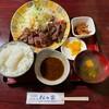 松の家 - 料理写真:牛肉にんにく醤油焼定食①