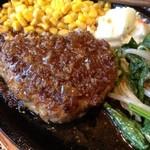 15887075 - ランチのハンバーグ(1口食べてしまった・・)