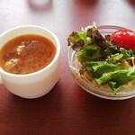 くいしんぼステ-キハウス - スープ&サラダ