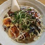 KUCHE - 料理写真:らー麺KURO+玉子 850円+100円