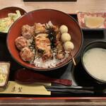 鳥繁 - 料理写真:焼鳥丼大(950円)