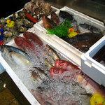 とっつぁん - 店先に並ぶ魚たち