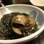 満拿 - 生青海苔の生牡蠣炒め