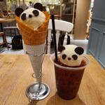 gelato pique cafe bio concept - パンダジェラート、パンダフロート
