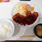 味の店 一番 - 令和3年9月 コンビネーション定食(ヒレとロース) 900円