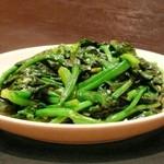 南陽 - 青菜のにんにく炒め