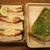 石窯パン工房 キャパトル - 料理写真:エビたまサンド、バジルフランス