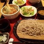 炭焼 基 - お蕎麦と天丼のセット☆