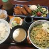 やぶ久 - 料理写真:ランチのヒレカツ定食の蕎麦大盛1350円