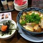 15894185 - めんたいご飯とちゃーしゅう醤油