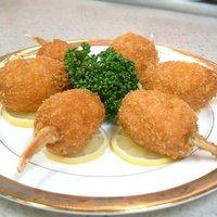 上海菜館 - 特製蟹の爪揚げ