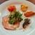 Eccomi - 料理写真:上品な白いお皿に華やかな前菜が5種類、1品1品繊細な工夫が光る凝ったお料理ばかり
