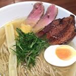 淡麗拉麺 志おん - ■土佐ゆず塩ラーメン   (全粒粉麺、合鴨肉、炙り角煮)