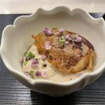 158976529 - 皮蛋豆腐ペースト 無花果のせ