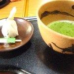 喜久月 - 「あを梅」と抹茶
