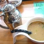 俺のラーメン あっぱれ屋 - スープ割り