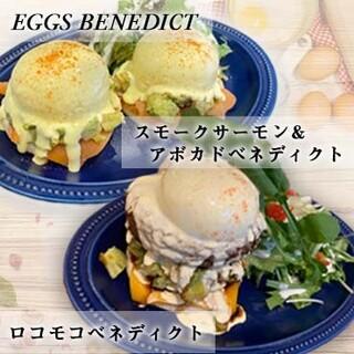 内閣総理大臣賞の卵を使ったエッグベネディクト