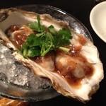 15904338 - 生牡蠣の中華風ねぎソースかけ