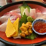 市場の食堂 金目亭 - 料理写真:地魚海鮮丼 1850円。