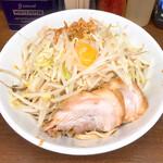 ラーメン二郎 - 小汁無し野菜マシ860円