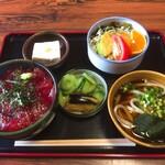 ますや食堂 - 料理写真:まぐろ丼セット:950円