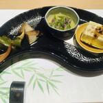 川崎 鮨 栞庵 やましろ - 前菜四種