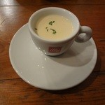 15908139 - ランチPranzoC 小スープ(温製じゃが芋のポタージュ)