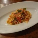 15908150 - Pranzo C 手打ちパスタ タリアテッレ 白身魚とししとうのフレッシュトマトソース
