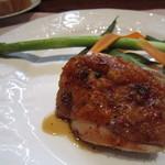 ビストロ スポンタネ - 2012.09メインの鶏をチョイス