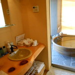 夢紡ぎの宿 月の渚 - 洗面所~専用露天風呂