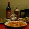龍の子 - 料理写真:左からチンジャオロース、エビチリ、五目焼きそば