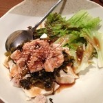 じゅじゅ - 豆腐と蒸し鶏のサラダ