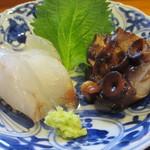 15915103 - 鯛の刺身と蛸の桜煮アップ