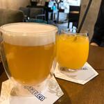 ココフラットカフェ 本町 - 生ビール&オレンジジュース