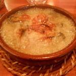 Ragout - 牡蠣のにんにくオイル煮 ぐつぐつ状態