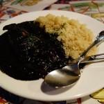 15920197 - イカの墨煮 サフランライス添え