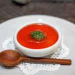 ARMONICO - 完熟トマトのジュレとモッツァレラチーズのムース