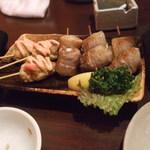 高粋舎 - 2012.11.18 つくね明太マヨ313円+肉巻うずら313円