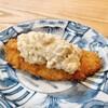 松寿司 - 料理写真:毎回必ず出るアジフライ。タルタルソースには、ガリとたくあんを使っているとか。
