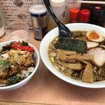 雨風本舗 - ラーメン+チャーシュー丼