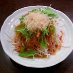 炭火焼肉 貴仙 - 本日のサラダ(大根サラダでした)