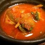 米沢牛焼肉 仔虎 - 冷麺は別辛です。