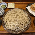 ふくや - 料理写真:ざる蕎麦大盛とかき揚げ