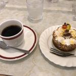 フランス菓子 葦 - 料理写真:タルトポテロンとブレンドコーヒーで@800円
