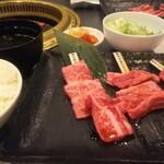 焼肉せんりゅう - カルビ食べ比べ1.5倍ランチ
