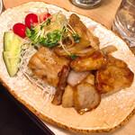 すみれ - 豚バラ肉しょうが焼き650円