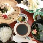 ゆう心 - 天ざる豆腐セット
