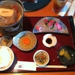 15924977 - H.24.11.18.昼 近江肉すき焼き鍋握り寿司セット 2,380円