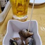 タカマル鮮魚店 - ツブ貝がお通し