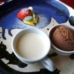 QUATRE SAISONS - パンナコッタ&チョコレートアイス